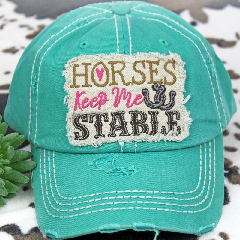 Horses Keep me Stable Trucker Hat-Lola Monroe Boutique