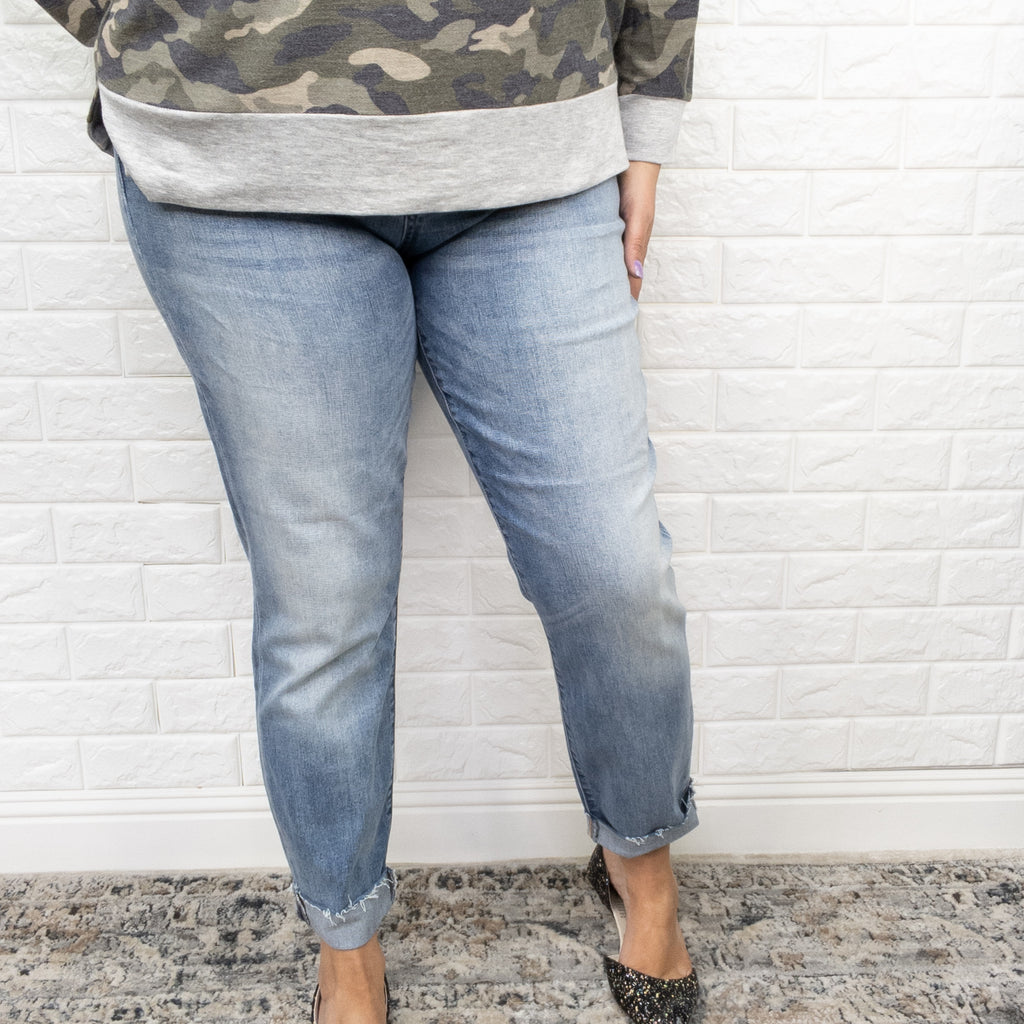 "Judy Blue ""Living for the Weekend"" Relaxed Straight Leg Jeans-Lola Monroe Boutique"