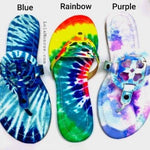 Tie Dye Designer Inspired Sandals-Lola Monroe Boutique