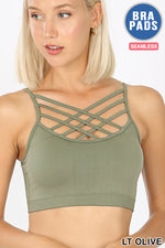 Triple Criss Cross Bralette (Multiple Colors)-Lola Monroe Boutique