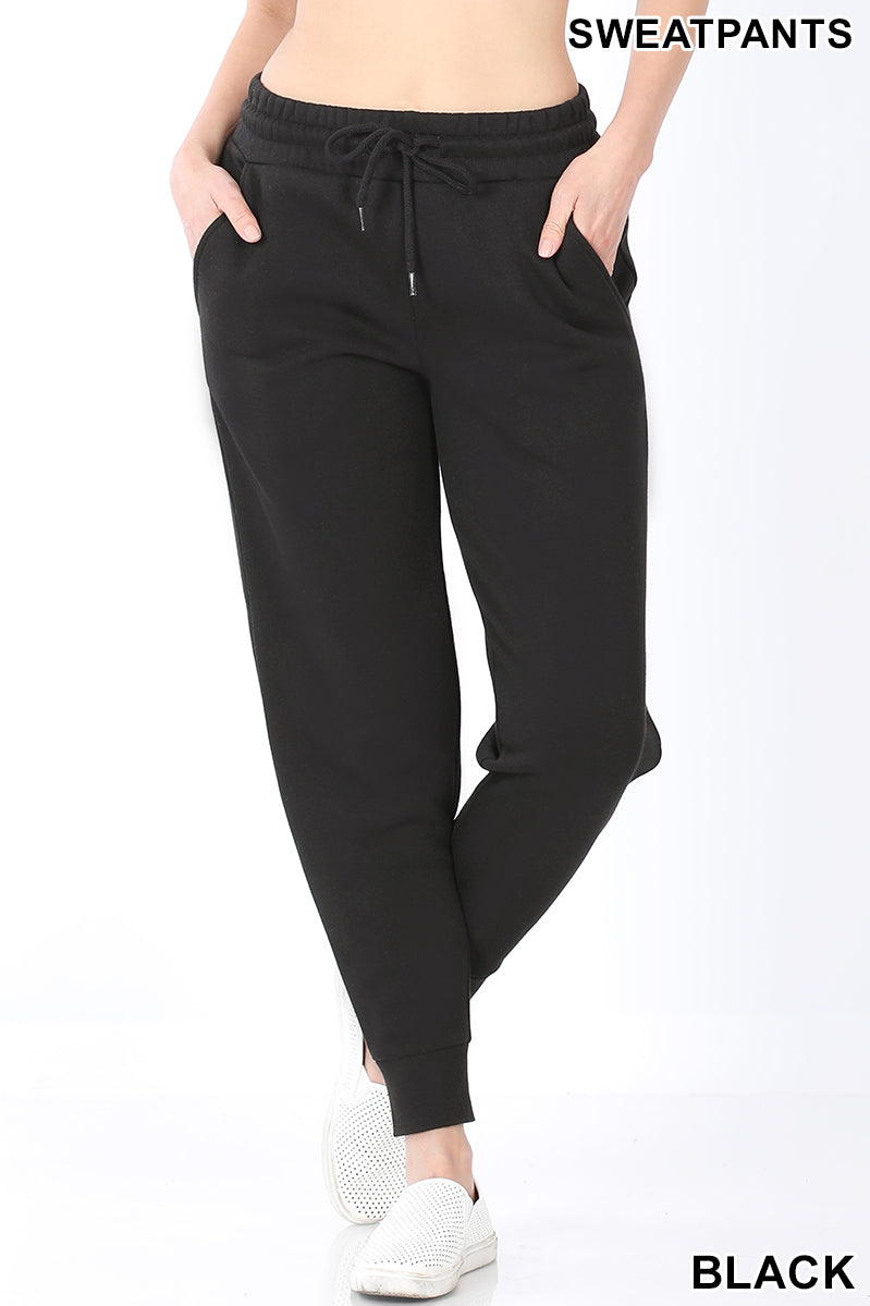 Draw String Sweat Pants with Pockets-Lola Monroe Boutique