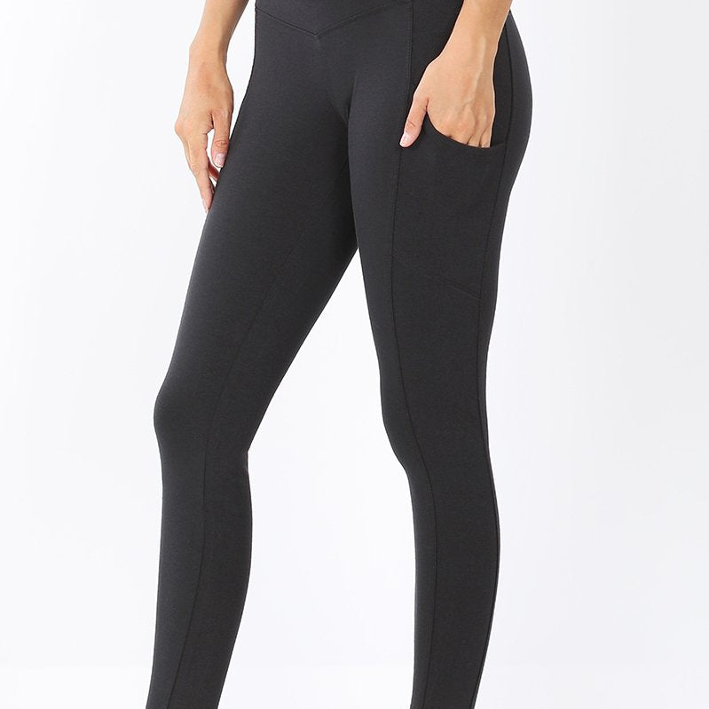 Cotton Comfort Leggings-Lola Monroe Boutique