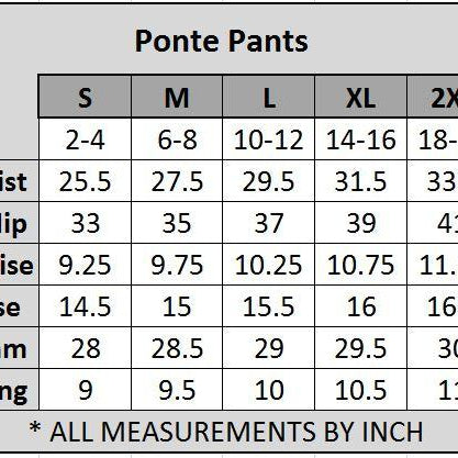 4 Pocket Ponte Pants (Charcoal)-Lola Monroe Boutique