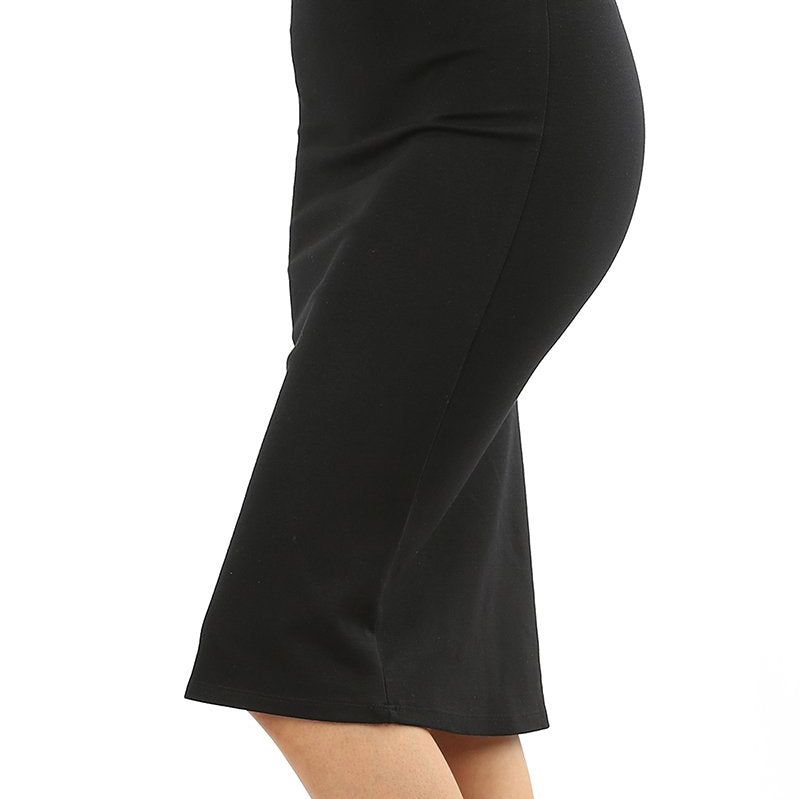 Knee Length Pencil Skirt-Lola Monroe Boutique