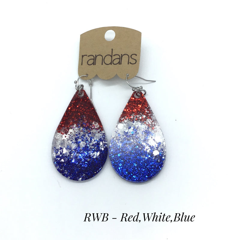 Teardrop Acrylic Earring (Multiple Colors)-Lola Monroe Boutique
