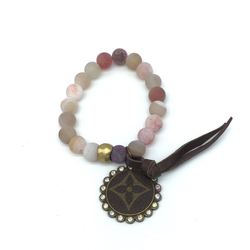 Upcycled Bracelet (Desert Rose)-Lola Monroe Boutique