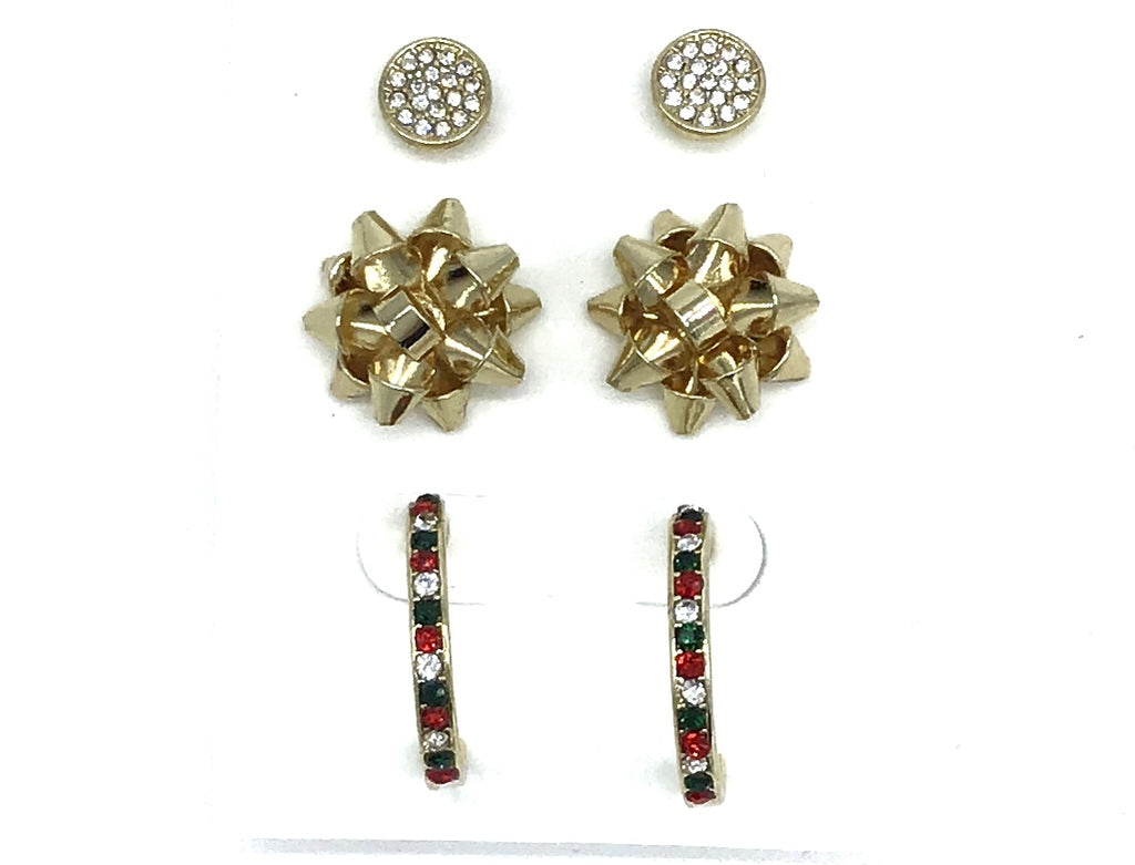 Holiday Earring Trio-Lola Monroe Boutique