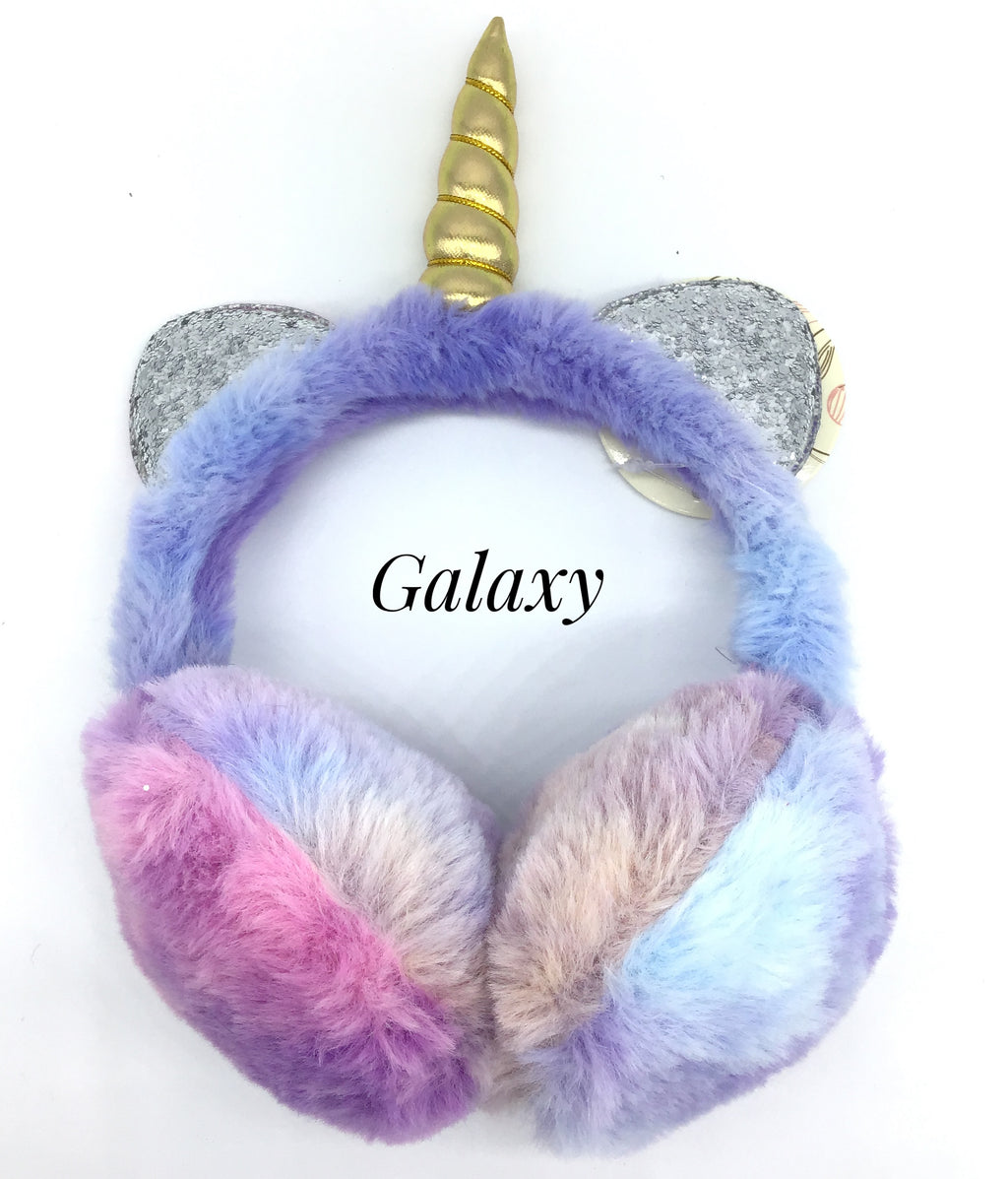 Unicorn Ear Muffs (Tie Dye Colors)-Lola Monroe Boutique