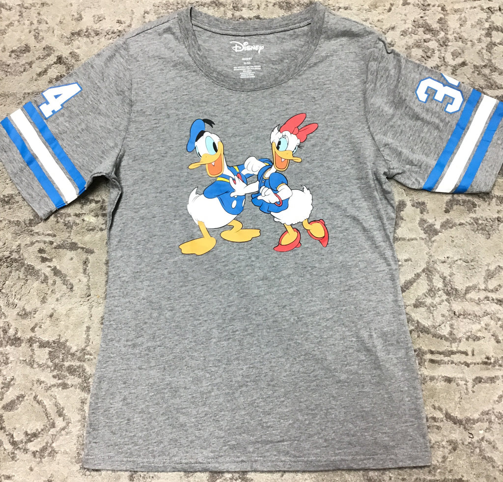 Junior Sizing Disney Donald & Daisy Duck Varsity Shirt-Lola Monroe Boutique