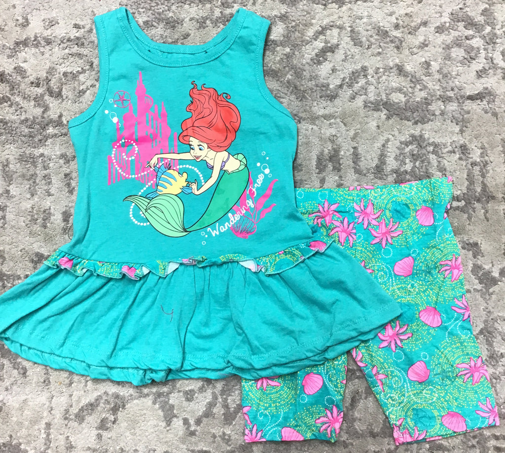 Disney Ariel Kids Short Set-Lola Monroe Boutique