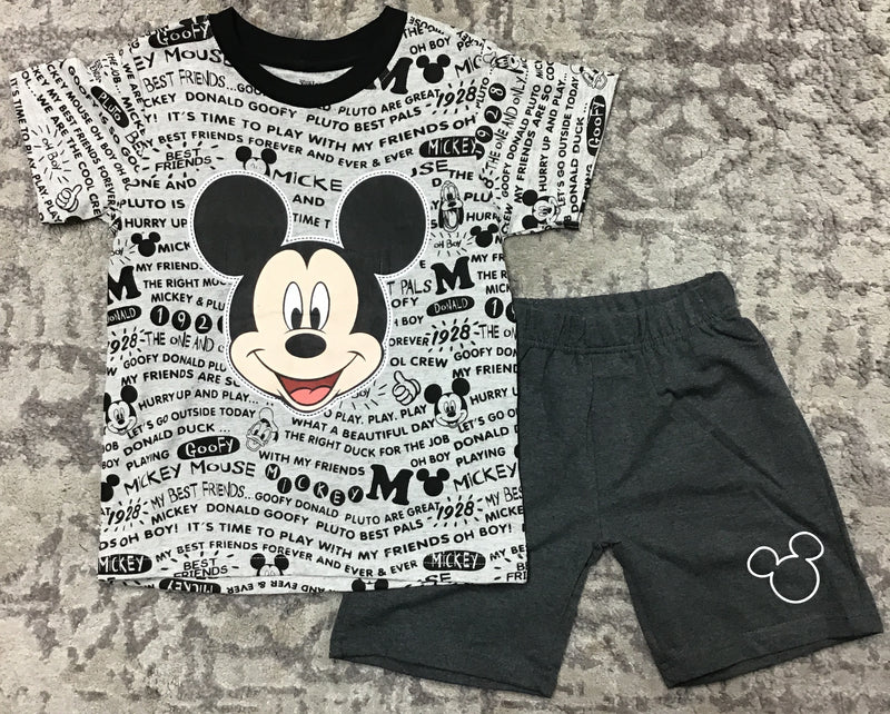 Disney Mickey Mouse Kids Short Set-Lola Monroe Boutique