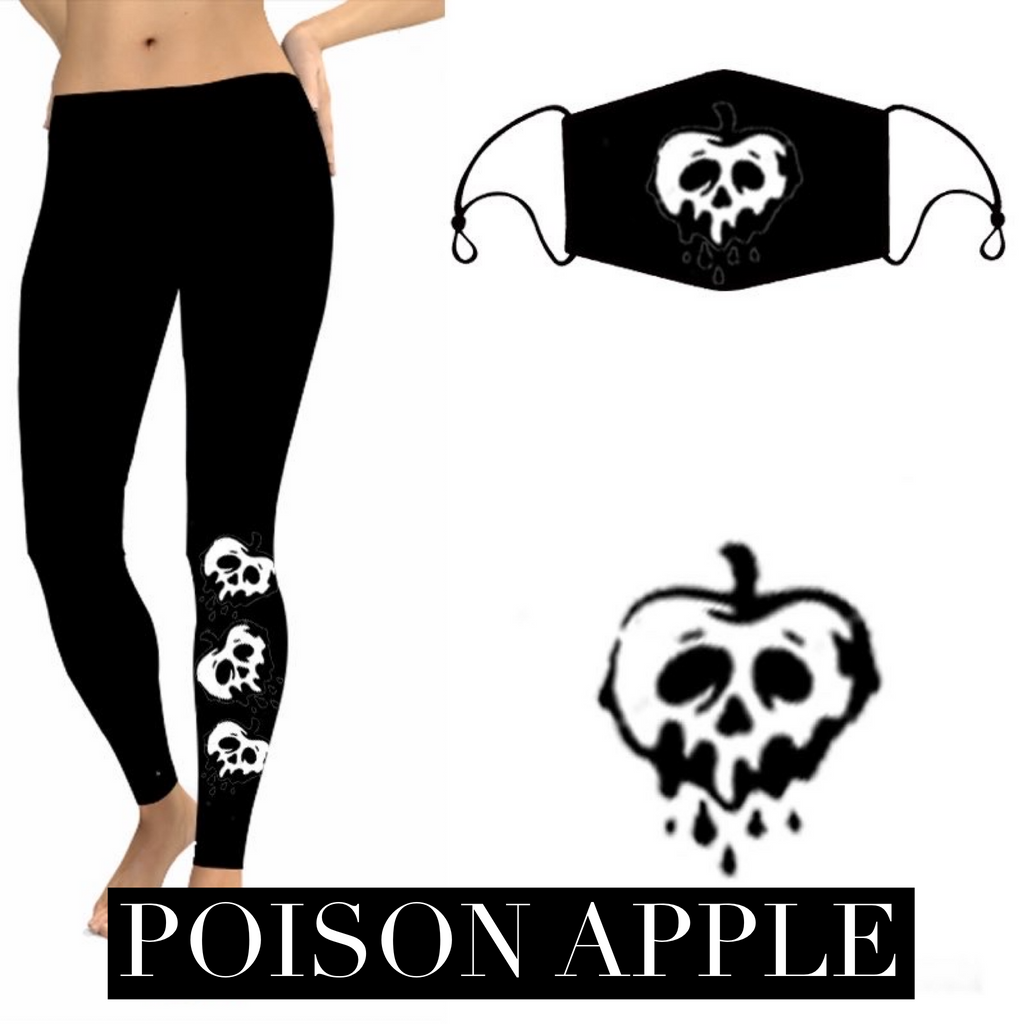 Poison Apple Halloween Leggings-Lola Monroe Boutique