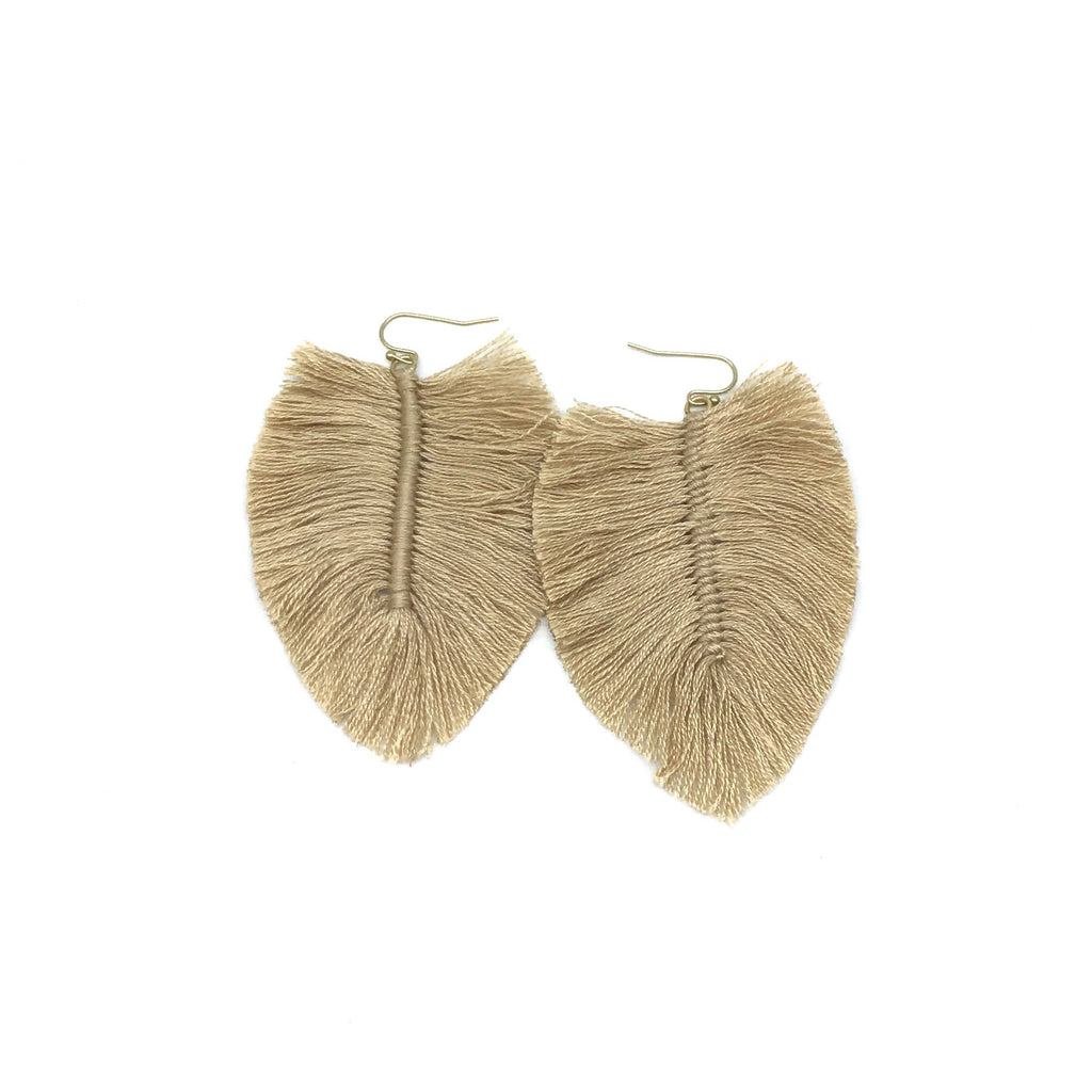 Leaf Fringe Drop Earrings (Multiple Colors Available)-Lola Monroe Boutique