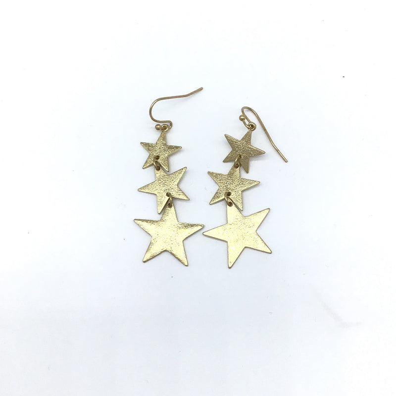 Falling Stars Drop Earrings-Lola Monroe Boutique