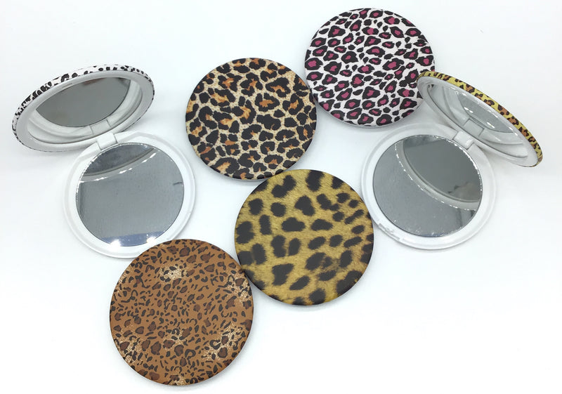 Animal Print Mirrored Compact-Lola Monroe Boutique