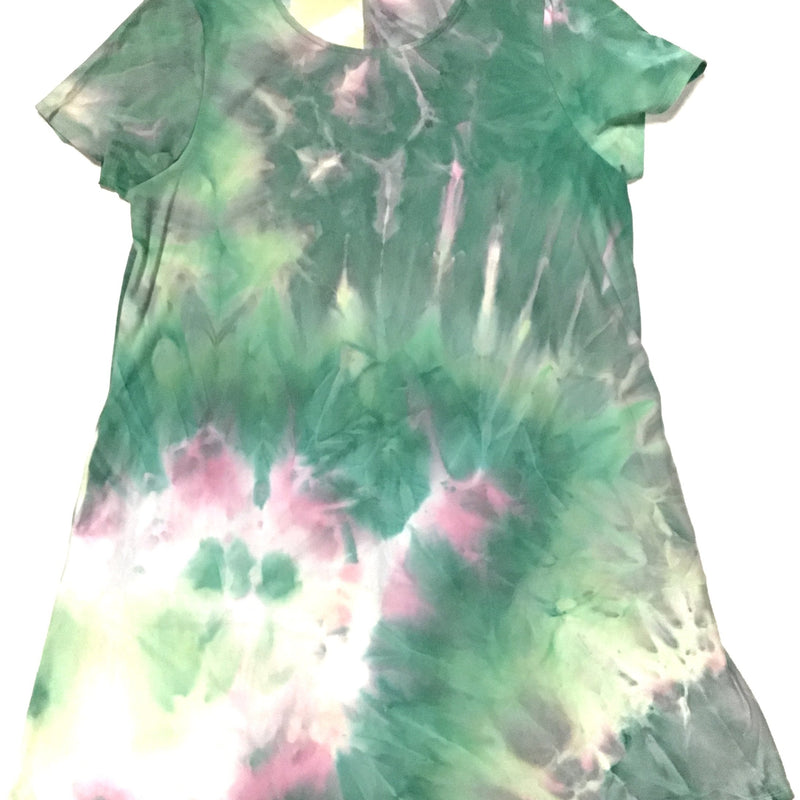 Honey Me Green Tie Dye Tunic/Dress with Pockets-Lola Monroe Boutique