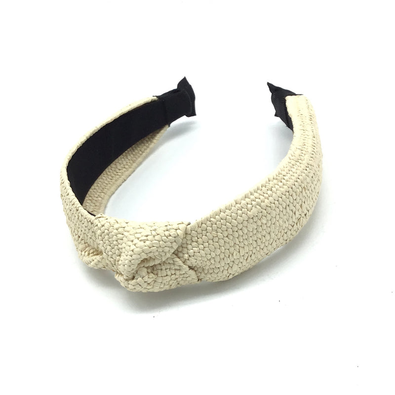 Straw Headband-Lola Monroe Boutique