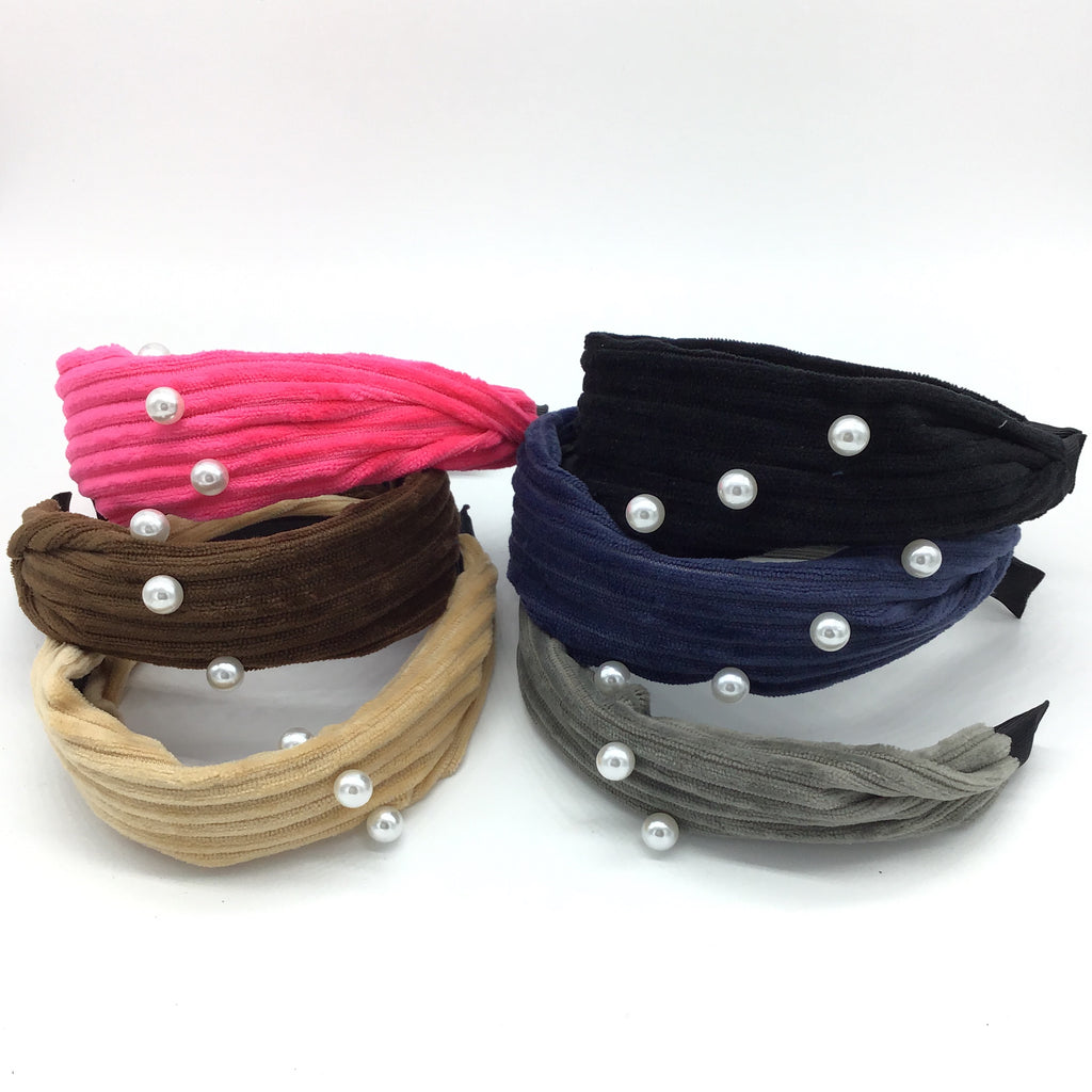 Velvet & Pearl Headbands-Lola Monroe Boutique