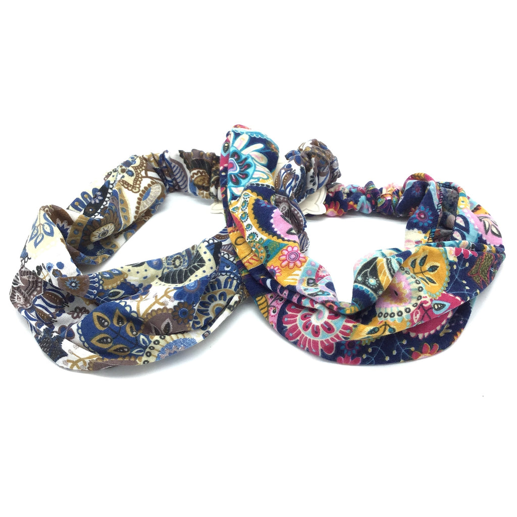 Paisley Cloth Headbands-Lola Monroe Boutique