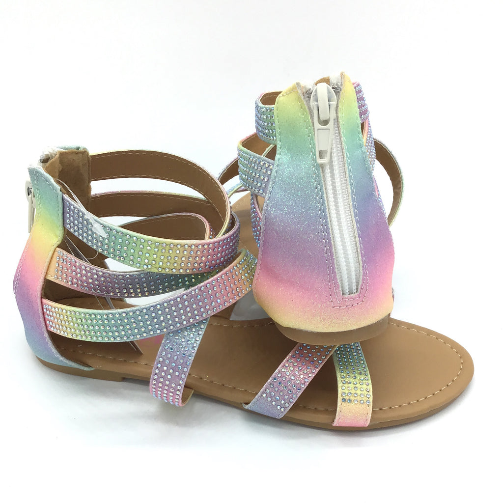 Kids Sparkle Rainbow Sandal (Kids 11 - 4)-Lola Monroe Boutique