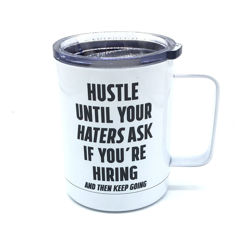 Hustle Stainless Steel Coffee Mug-Lola Monroe Boutique