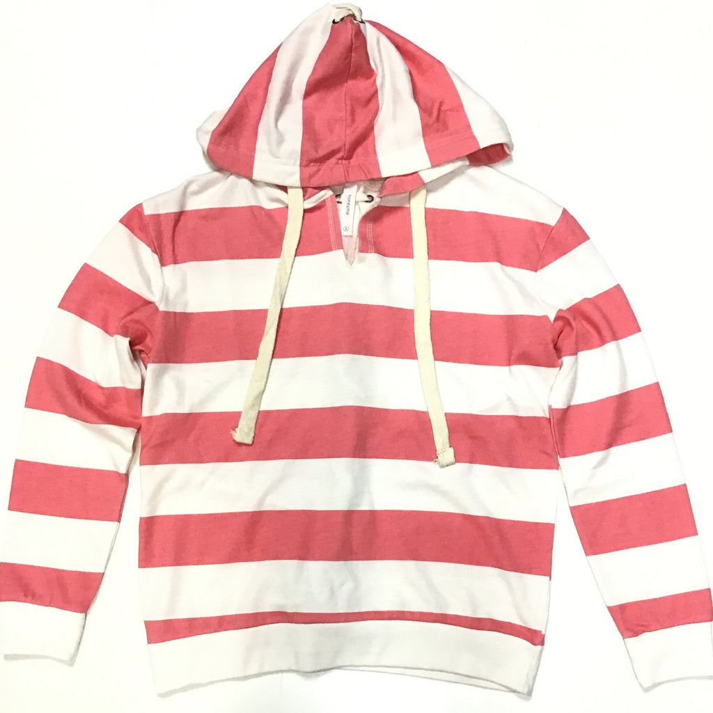 Honey Me Stripe Lace Up Back Hoodie-Lola Monroe Boutique