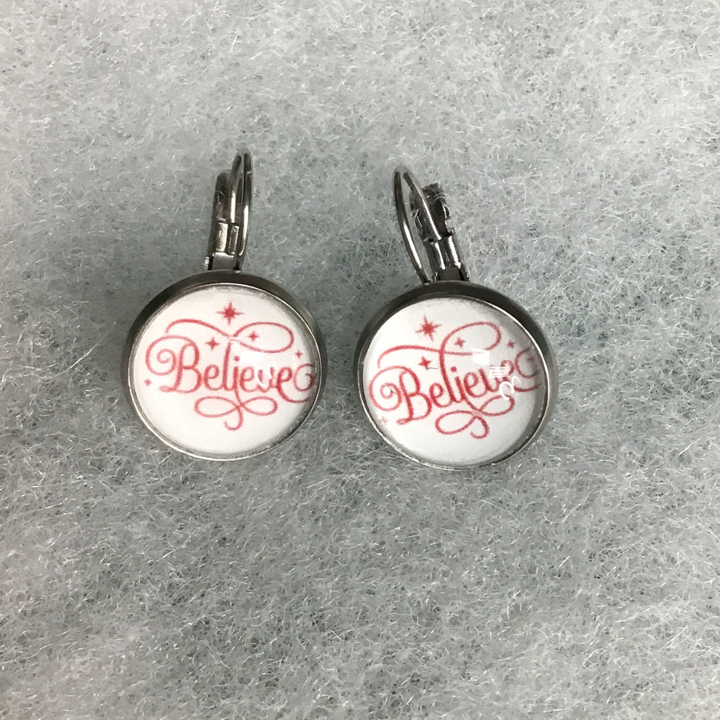 Pre-Sale Believe Leverback Earrings-Lola Monroe Boutique