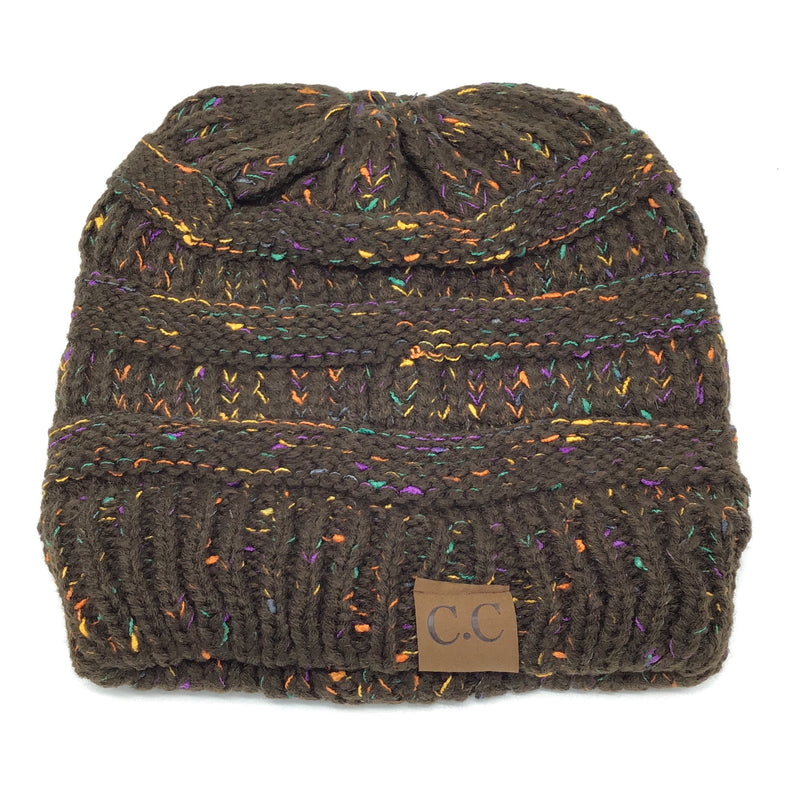 Ponytail Beanies Multi Colored (Multiple Colors)-Lola Monroe Boutique