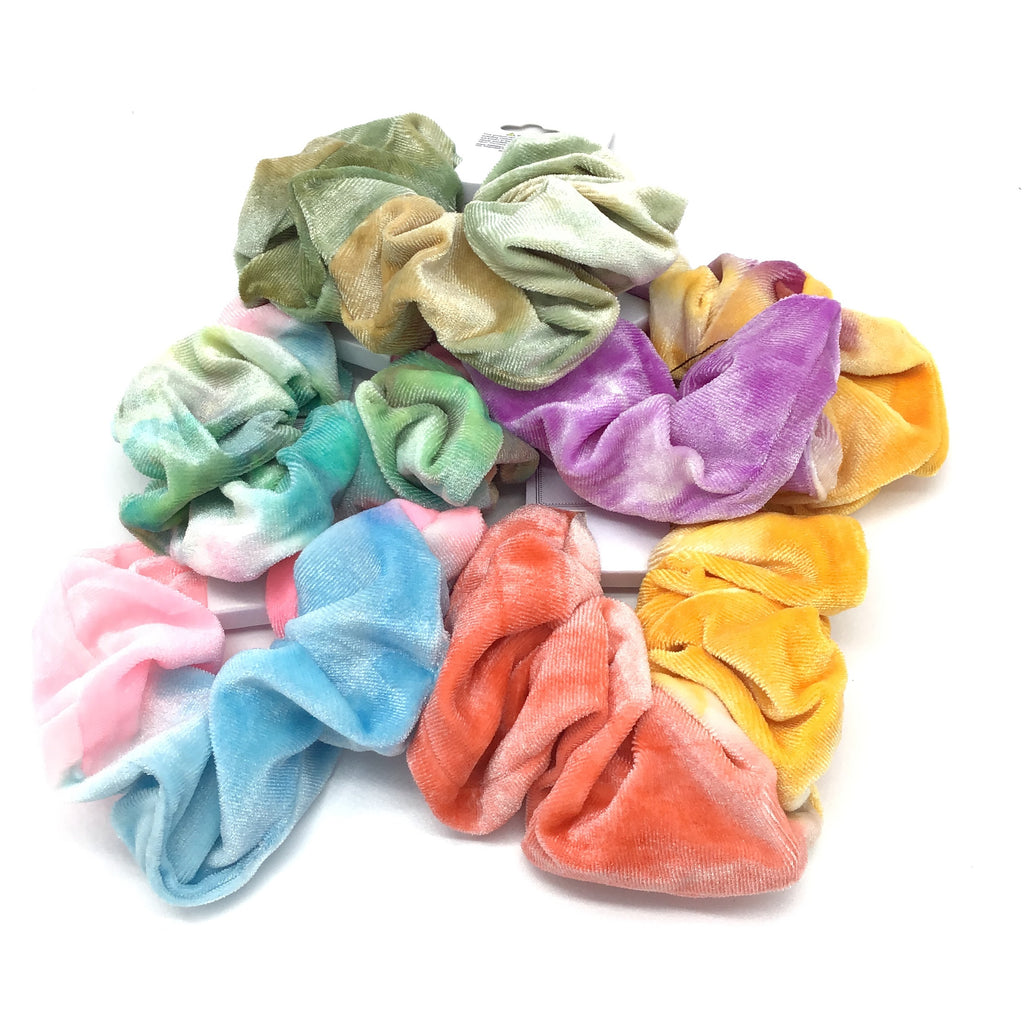 Assorted Tie Dye Scrunchies 5 Pack-Lola Monroe Boutique