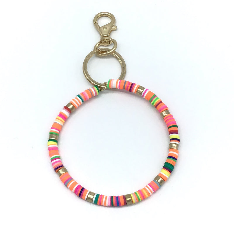 Rubber Coated Bracelet Key Rings (Multiple Colors)-Lola Monroe Boutique