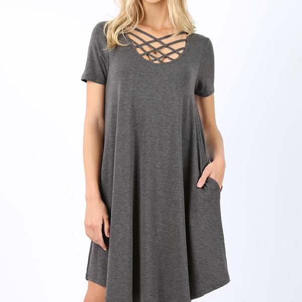 Triple Criss Cross Swing Dress