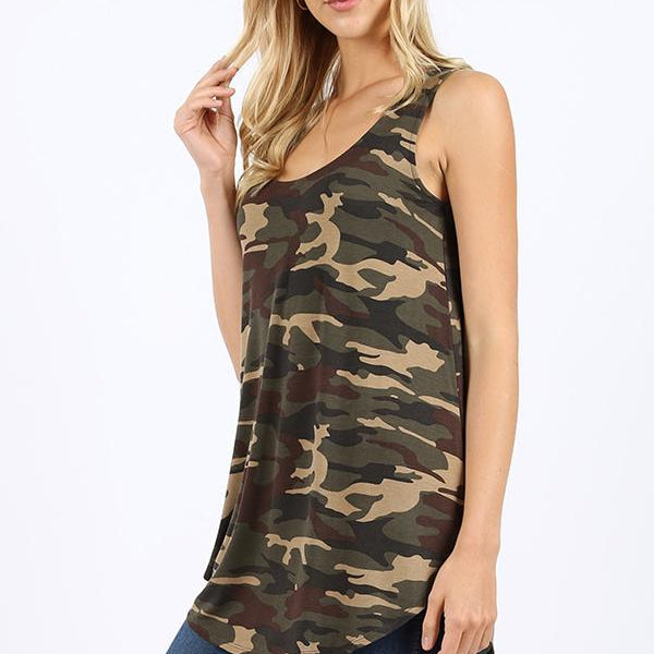 Hiding In Plain Sight Relaxed Fit Tank-Lola Monroe Boutique