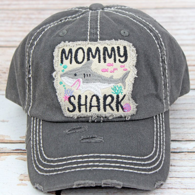 Mommy Shark Trucker Hat-Lola Monroe Boutique