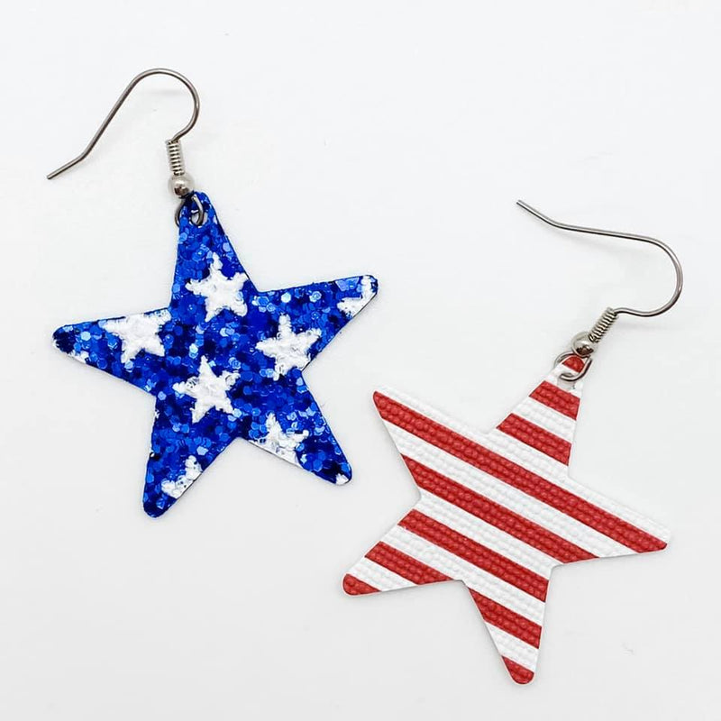 Patriotic Earrings-Lola Monroe Boutique