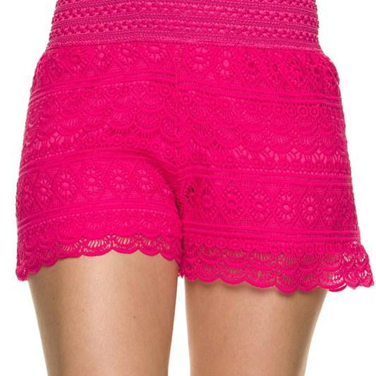 Crochet Shorts-Lola Monroe Boutique