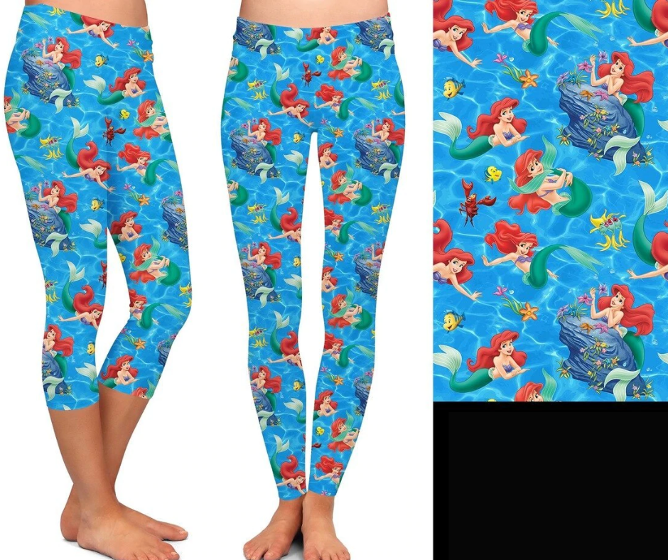 Mermaid Leggings-Lola Monroe Boutique