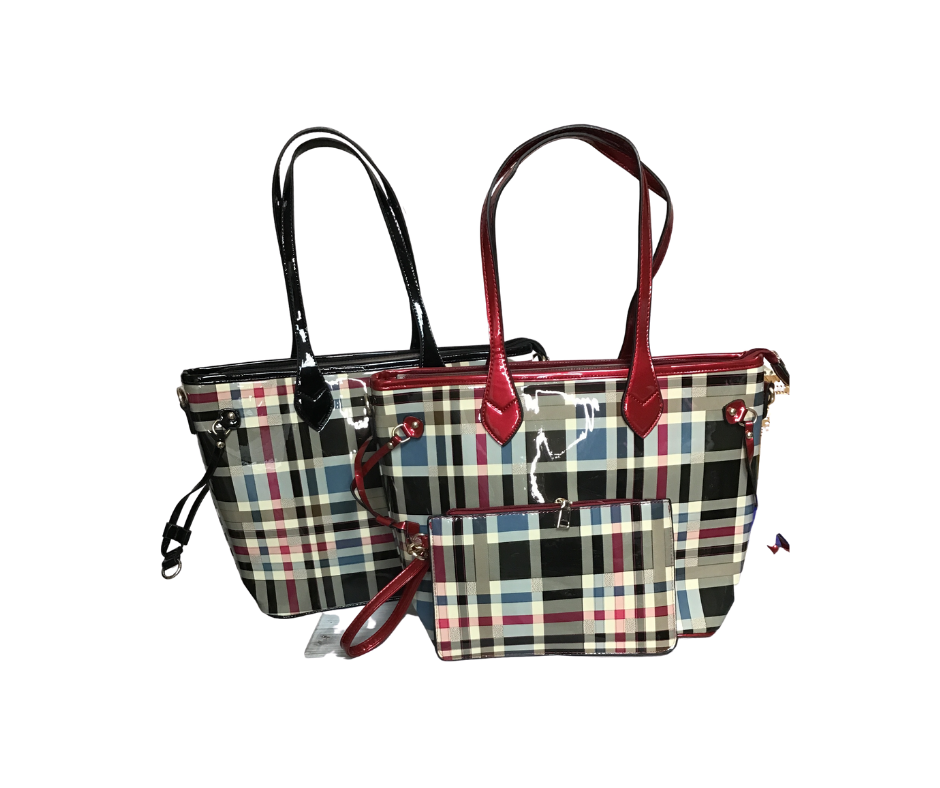 Rainy Day Purse (Red & Black )-Lola Monroe Boutique