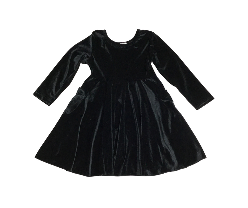 BLACK VELVET Peyton Long Sleeve Tunic Dress with Pockets-Lola Monroe Boutique