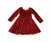 RED VELVET Peyton Long Sleeve Tunic Dress with Pockets-Lola Monroe Boutique