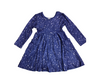 Peyton Long Sleeve Tunic Dress with Pockets (Starry Night)-Lola Monroe Boutique