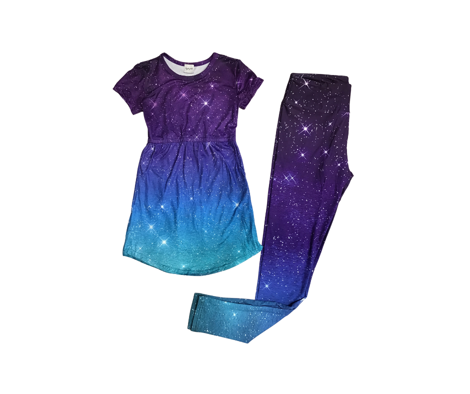 Peyton Tunic Dress with Pockets (Galaxy)-Lola Monroe Boutique