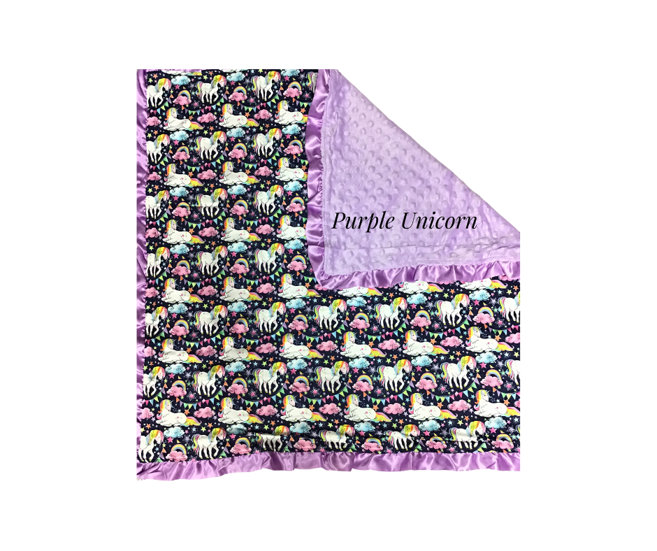 Minky Baby Blankets (Multiple Options)-Lola Monroe Boutique