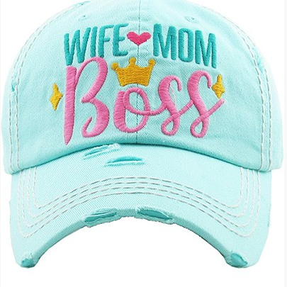 Wife Mom Boss Trucker Hat-Lola Monroe Boutique
