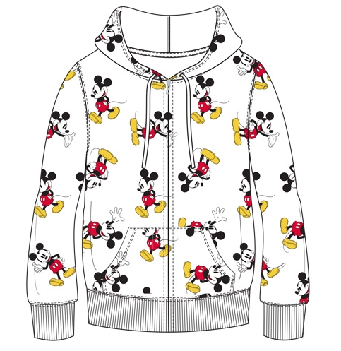 Disney Unisex Sizing Mickey Mouse Zip Up Hoodie-Lola Monroe Boutique