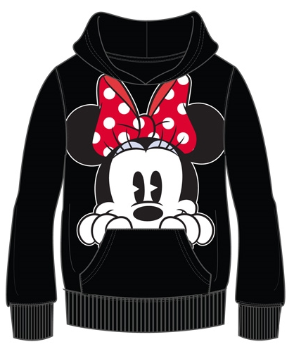 Disney Minnie Mouse Peeking Pullover Hoodie-Lola Monroe Boutique