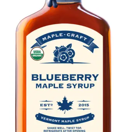 Organic Blueberry Maple Craft Syrup-Lola Monroe Boutique