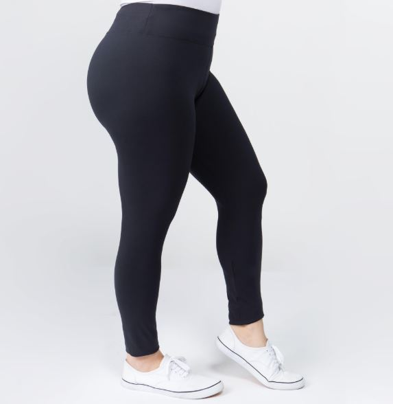 Adult Solid Leggings (Black, Grey, Navy)-Lola Monroe Boutique