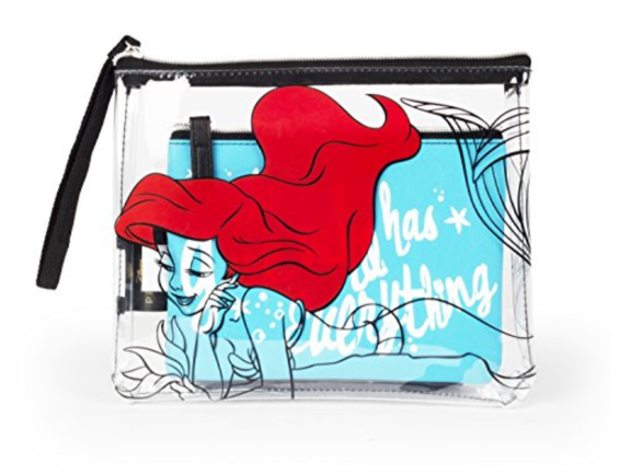 Disney Little Mermaid 2 Piece Cosmetic Bag-Lola Monroe Boutique