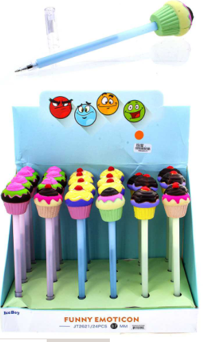 Cupcake Pen (Multiple Colors)-Lola Monroe Boutique