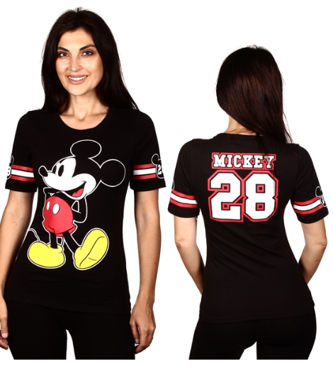 Junior Sizing Disney Mickey Mouse Varsity Shirt-Lola Monroe Boutique